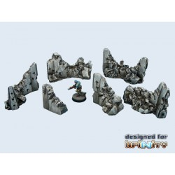 Concrete Wall Destroyed Set (6)