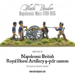 Napoleonic British Horse Artillery 9-pdr Cannon