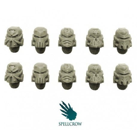 Salamander / Dragon Space Knights Helmets (Forge Pattern)