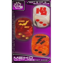 Set B of 3 Skill Dice