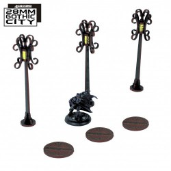 3x Sewer Cover Type B and 3x Lampost Type B