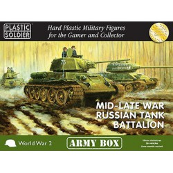 15mm Army Box Russian Mid/Late Tank Battalion