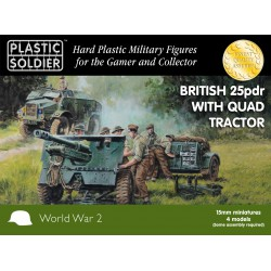 15mm British 25pdr Gun and Morris Quad Tractor