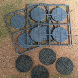 50mm Diameter Paved Bases (8)