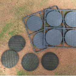 60mm Diameter Paved Bases (8)