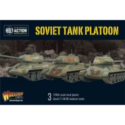 Soviet Armoured Platoon (3x T-34 Plus Infantry)