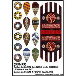 Muslim Banner & Shield Transfer Set