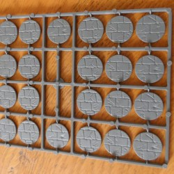 25mm Diameter Paved Effect Bases Adoquines