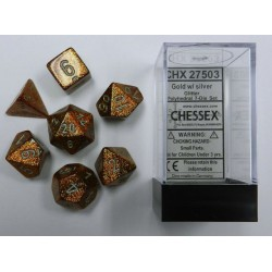 Glitter Polyhedral Gold/silver