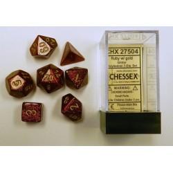 Glitter Polyhedral Ruby/gold