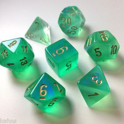 Borealis 2 Light Green/gold 7-die Set