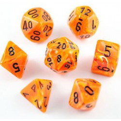 Vortex Dice Polyhedral Orange/black 7-die Set