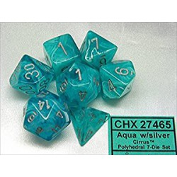 Cirrus Polyhedral Aqua/silver 7-die Set