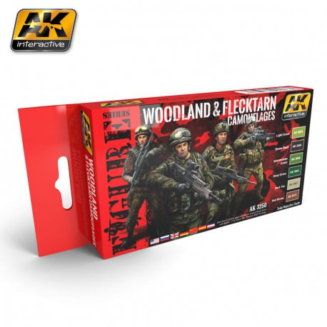Woodland and Flecktarn Modern Camouflages