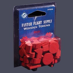 Red Assorted Wood Tokens (50)