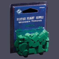 Green Assorted Wood Tokens (50)
