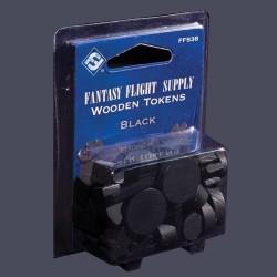 Black Assorted Wood Tokens (50)