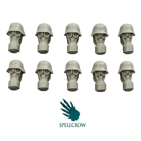 Guards Heads in Gas Masks