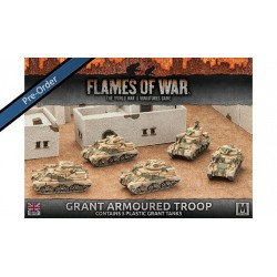 Desert Rats Grant Armoured Troop (5) Plastic