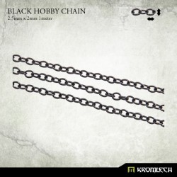 Black Hobby Chain 2,5mm x 2mm (1 meter)