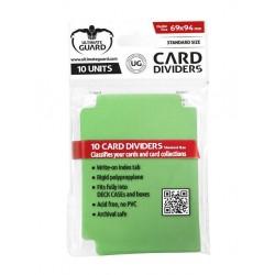 Tarjetas Separadoras para Cartas Tamaño Estándar Verde (10)