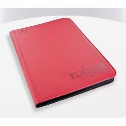 9-Pocket ZipFolio XenoSkin Carpeta para Cartas Rojo