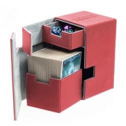 Flip'n'Tray Deck Case 100+ Caja de Cartas Tamaño Estándar XenoSkin Rojo