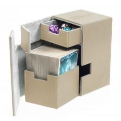 Flip'n'Tray Deck Case 100+ Caja de Cartas Tamaño Estándar XenoSkin Beige