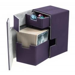 Flip'n'Tray Deck Case 100+ Caja de Cartas Tamaño Estándar XenoSkin Violeta