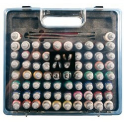 72 Game Color + 3 brushes briefcase