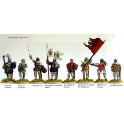 French High Command at Agincourt on foot