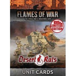 MID WAR Desert Rats Unit Cards
