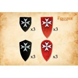 Hospitaller Order Shields Type 1 (12 shields)