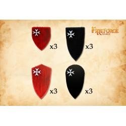 Hospitaller Order Shields Type 2 (12 shields)