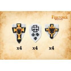 Teutonic Knight Shields (12 shields)