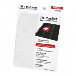 18-Pocket Pages Side-Loading White