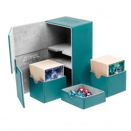 Twin Flip'n'Tray 160+ Caja de Cartas Tamaño Estándar XenoSkin Gasolina Azul