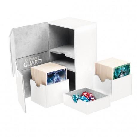 Twin Flip'n'Tray 160+ Caja de Cartas Tamaño Estándar XenoSkin Blanco