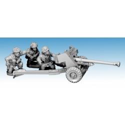 British Paratrooper 6-pdr Gun & 3 Crew
