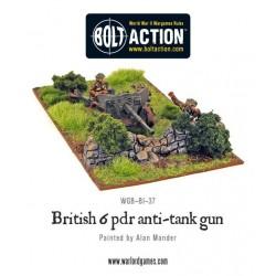 British Army 6 Pounder AT Gun