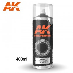 Fine Primer Black - Spray 400ml (Includes 2 nozzles)
