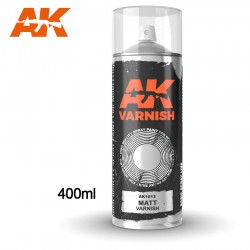 Matt Varnish - Spray 400ml (Includes 2 nozzles)