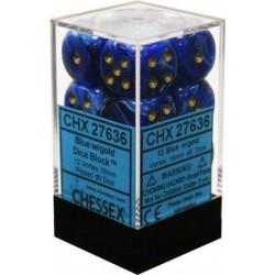 Vortex Blue w/gold 16mm