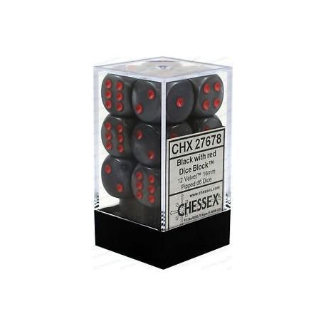 Velvet Black w/red 16mm