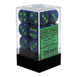Lustrous Dark Blue w/green 16mm