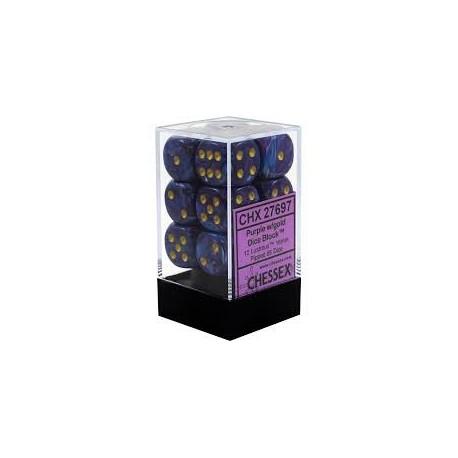 Lustrous Purple w/gold 16mm