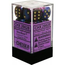 Blue-Purple w/gold 16mm