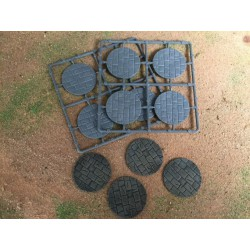 40mm Diameter Paved Bases (8)