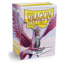 Dragon Shield Sleeves: Pink Matte (100)