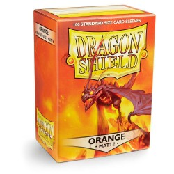 Dragon Shield Sleeves: Orange Matte (100)